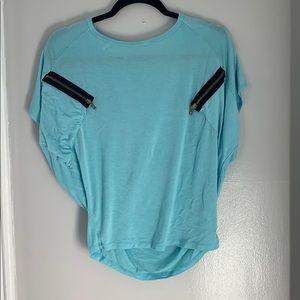Honey Punch Zipper Pockets T shirt